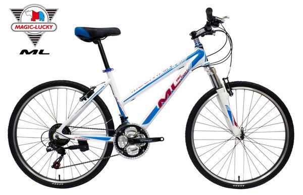 鋁合金26吋21速登山車 女性低跨點越野車 平價SHIMANO 微轉指撥定位 美騎樂自行車 ML-187D-L 台灣組裝