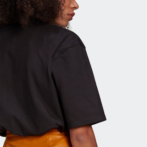【現貨】Adidas Originals ADICOLOR 女裝 短袖 T恤 寬鬆 刺繡 純棉 黑【運動世界】GN4784