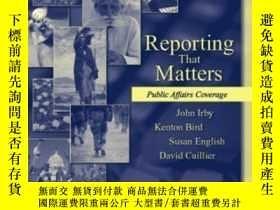 二手書博民逛書店Reporting罕見That Matters: Public Affairs Coverage-重要的報道:公共