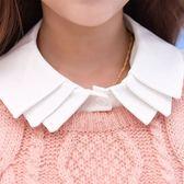 假領子假領片襯衫 韓版百搭毛衣針織衫洋裝假兩件內搭[E1111]白色 預購.朵曼堤洋行