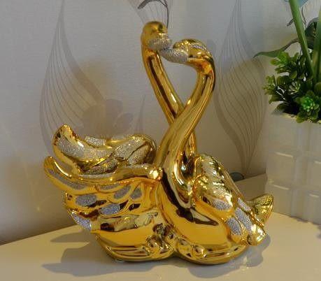 天鵝擺件陶瓷Z024