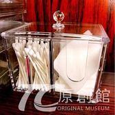 亞克力化妝棉化妝品收納盒棉簽小盒子 透明梳妝臺桌面棉片棉簽盒