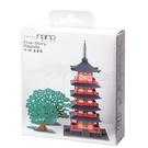 KAWADA Paper Nano 紙拼圖 FIVE-STORIED PAGODA 瑠璃光寺五重塔 PN-102