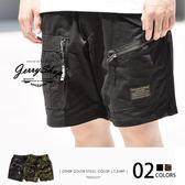 工作短褲 JerryShop【XX0SP11】迷彩硬派個性拉鍊工作短褲 (2色)