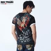 BigTrain猛火麒麟王圓領T-男-黑色-M.L.XL