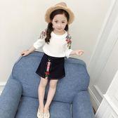 女童套裝兩件套韓版時尚潮衣女孩公主裙童裝