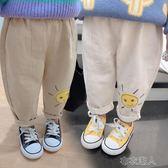 兒童褲子 女童秋裝新款童裝中小童寶寶卡通休閑褲長褲兒童洋氣潮款褲子 布衣潮人