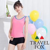 【TRAVELFOX 旅狐】粉彩簡約風二件式泳衣-C15706