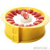 蛋糕模具家用戚風慕斯圓形硅膠活底不沾烘焙工具套裝6寸8寸