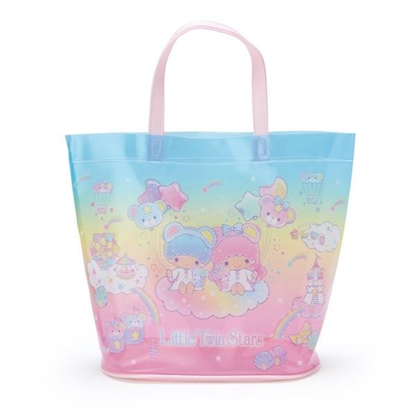小禮堂 雙子星 透明海灘袋 水桶提袋 游泳袋 泳具袋 防水袋 (藍 2021炎夏企劃) 4550337-47399