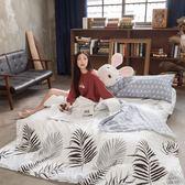 格調棕櫚 S2單人床包雙人被套三件組 100%復古純棉 台灣製造 棉床本舖