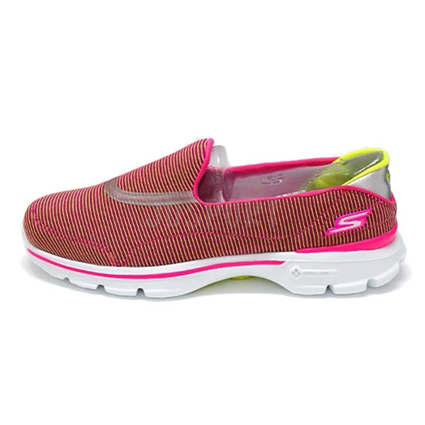 Skechers GO Walk 3 女 桃紅 白 休閒運動鞋 透氣 懶人鞋 健走鞋 13989PKLM