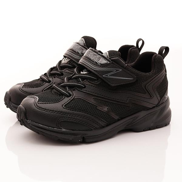 日本Moonstar機能童鞋  3E競速系列運動鞋 TW016黑(中大童段)