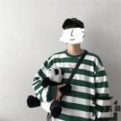 條紋衛衣男士嘻哈寬松長袖韓版潮流上衣T恤【左岸男裝】