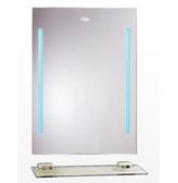 【麗室衛浴】化妝鏡 LS-0270 附燈防霧明鏡  採防水LED藍燈 500*700mm