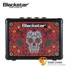 Blackstar Fly3 Sugar Skull2 紅骷髏 單顆吉他音箱(可當電腦喇叭/電池可攜帶)內建破音與Delay效果器