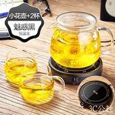物生物花茶壺玻璃茶壺耐熱高溫煮泡茶茶具家用過濾電恒溫水壺套裝