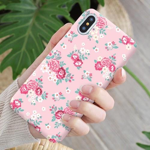 韓國 小玫瑰 硬殼 手機殼│iPhone 6 6S 7 8 Plus X XS MAX XR 11 Pro LG G7 G8 V40 V50│z9048