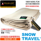 [SNOWTRAVEL]SW-550G(沙漠棕)台灣製軍規 POLAR-LOFT纖維550G/M2-CX24H全防風鯊式長毛複合絨球雙層軍用毯