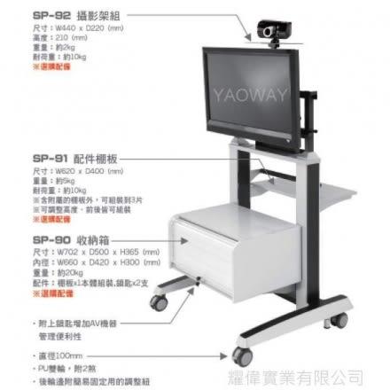 【耀偉】SP-92配件(電視架/壁掛架/電視櫃/TV架/LCD架)