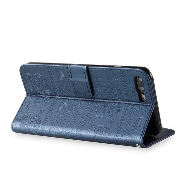 華碩 ZenFone 5 ZE620KL 5Q ZC600KL 5Z ZS620KL 圖騰大象皮套 手機皮套 插卡 支架 磁吸 皮套 掛繩
