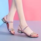 兩穿涼鞋女夏新品百搭洋氣女士低跟平底大碼水鑚仙女風涼拖鞋 - 風尚3C