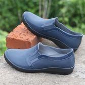韓版男士輕便雨鞋男式低筒仿皮雨靴水鞋夏季短筒雨鞋皮鞋水鞋膠鞋 超值價