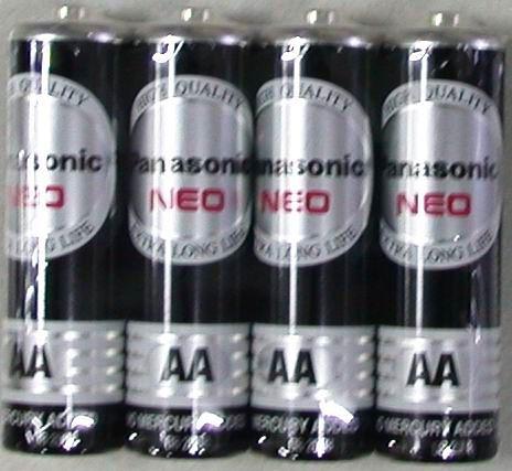 國際牌碳鋅電池3號4入
