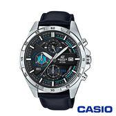 CASIO卡西歐 商務時尚三眼高科技賽車皮革男腕錶-藍x48mm  EFR-556L-1A