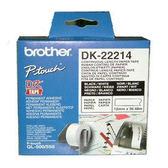 brother DK連續標籤帶 DK-22214 (12mm) 適用:QL-570/QL-700/QL-720NW