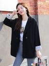 西裝外套 網紅小西裝外套女春秋2020年新款韓版寬鬆休閒英倫風套裝黑色西服 愛丫 免運