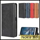 【萌萌噠】諾基亞 Nokia 8.3 (5G) 復古紋商務款 錢包式側翻皮套 可插卡磁吸 全包軟殼 手機殼