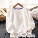 貴氣華夫格~男童長袖T恤春裝2021新款洋氣上衣中大兒童立領打底衫 小艾新品