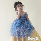 夏季女童連身裙夏裝寶寶蓬蓬紗吊帶蛋糕小公主裙子【奇趣小屋】