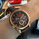 MASERATI瑪莎拉蒂男女通用錶44mm古銅色錶面咖啡色錶帶