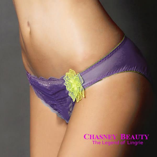 Chasney Beauty-craft山茶花S蕾絲三角褲(紫綠)