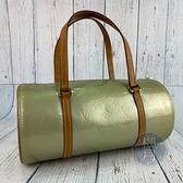 BRAND楓月 LOUIS VUITTON 路易威登 LV M91130 金屬色 綠漆皮 圓筒包 肩背包 手提包
