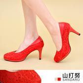 專櫃女鞋 水鑽蕾絲高跟鞋- 山打努SANDARU【2029948208】紅色下單區
