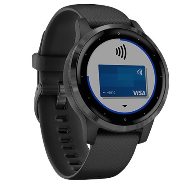 GARMIN / 010-02172-15 / vivoactive 4S GPS 智慧腕錶 矽膠手錶 石墨黑色 40mm
