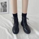 瘦瘦鞋網紅ins潮馬丁靴女夏季新款百搭透氣系帶薄款英倫風短靴子【小艾新品】
