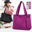 側背包-夏款簡約時尚日正韓女包學生側背女士尼龍購物袋手提大包包