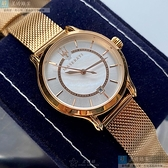 MASERATI瑪莎拉蒂女錶34mm白色, 貝母錶面玫瑰金色錶帶