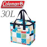 【Coleman 美國 30L 薄荷藍保冷袋】CM-27235/收納袋/購物袋/保冰袋