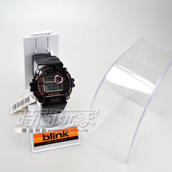 JAGA Blink系列 陽光炫麗多功能 電子錶 藍色冷光燈照明 男錶 學生錶 軍錶 運動錶 M886-AL(黑金)
