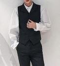 找到自己品牌 時尚潮流 男 翻領 複古人字紋馬甲 修身 西裝套裝 成套西裝 上衣+褲子