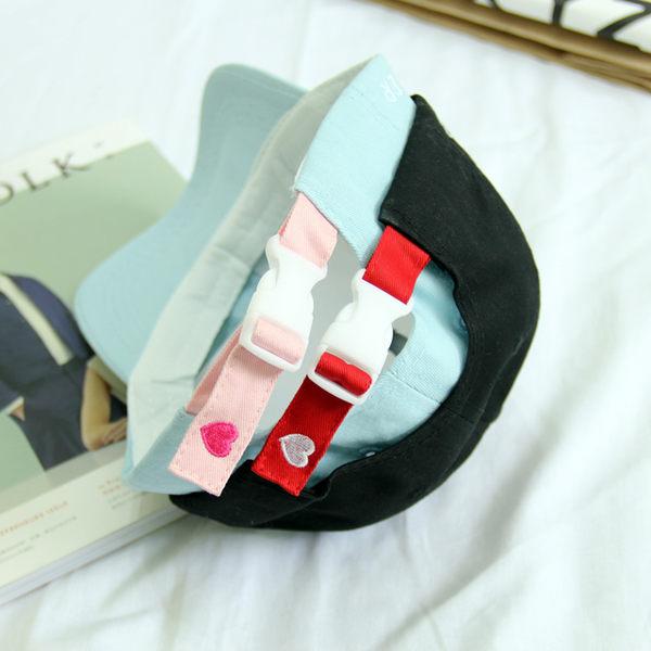 (全館一件免運)DE shop -韓國原宿風 刺繡愛心嘻哈棒球帽鴨舌帽(SH-415)