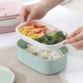 【全館】82折韓國雙層飯盒便當盒學生午餐帶蓋微波爐中秋佳節