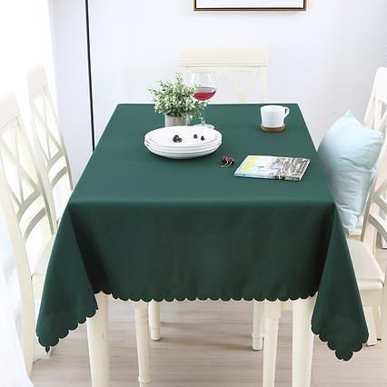 桌布 桌布布藝圓形台布酒店餐廳飯店圓桌布純色長方形會議桌布 優惠兩天
