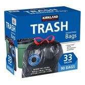 Kirkland Signature 科克蘭 特大強力垃圾袋 124公升X 90入