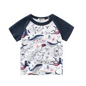 歐美風格男童短袖T恤-藏寶圖(男童短袖上衣)